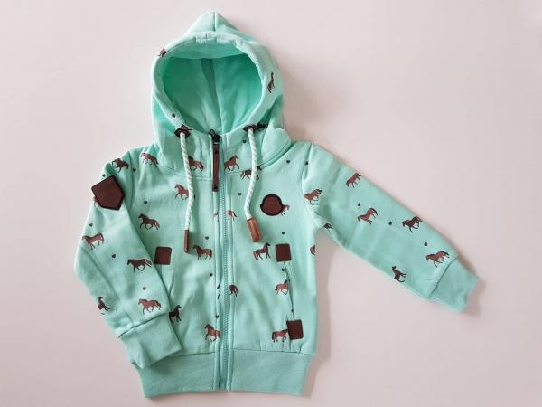 Squared /& Cubed Pferde Mädchen Sweatjacke Jacke Sweater Blau